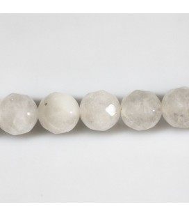 BeauMonde Jewelry - Jade white 10 mm round faceted bead