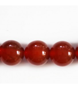 BeauMonde Jewelry - Carnelian 14 mm Brazil round bead (red agate)