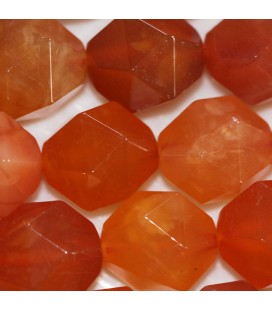 BeauMonde Jewelry - Agate Botswana 12 mm round orange faceted bead (large facets)