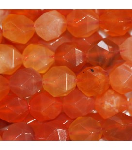 BeauMonde Jewelry - Agate Botswana 8 mm round faceted orange bead (large facets)
