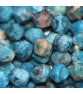 BeauMonde Jewelry - Agate crasy 8 mm round faceted bead (large facets)