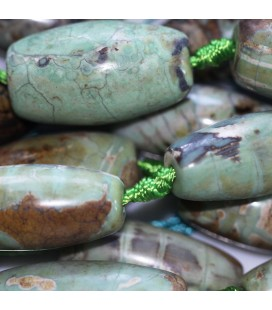 Agate 28x12 mm olive