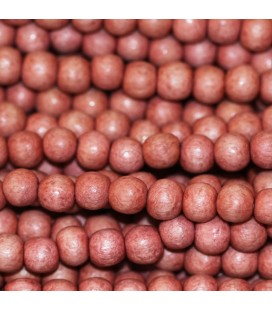 Wooden bead 6 mm round pink tea