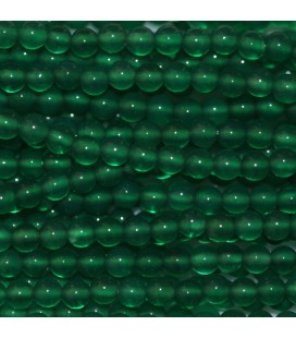 BeauMonde Jewelry - Agate green 2 mm round bead