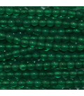 Agate green 2 mm round bead