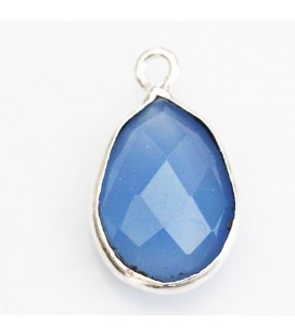 BeauMonde Jewelry - Agate blue 10x14 mm faceted drop 1 ring