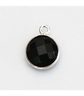 BeauMonde Jewelry - Onyx 10 mm faceted medallion 1 ring