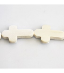 BeauMonde Jewelry- White wood 15.5x25x5 mm rounded cross