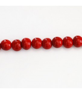 Wooden round pearl 6 mm