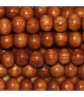 Wooden bead 5 mm about round bayong