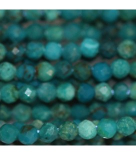 Chrysocolle 2 mm perle ronde facettée A