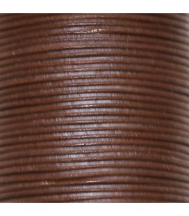 Chocolate leather 1 mm coil of 50 mt
