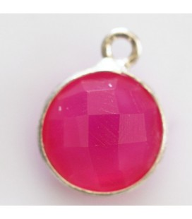 BeauMonde Jewelry - Agate fuchsia 10 mm faceted medallion 1 ring