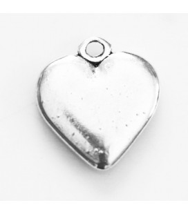 BeauMonde Jewelry - Heart smooth 14 mm ring pendant silver metal