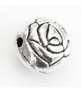 BeauMonde Jewelry - Round bead engraved 10 mm silver metal
