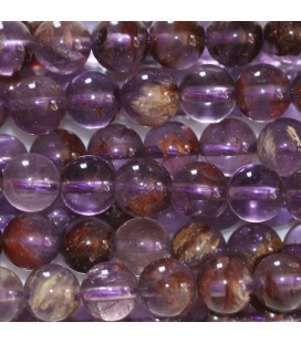 BeauMonde Jewelry - Amethyst Phantom 6 mm round bead Brazil