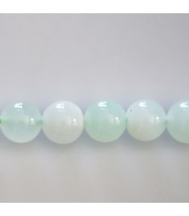 BeauMonde Jewelry - Opal green 10 mm round bead Indonesia
