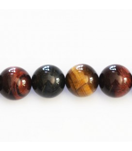 BeauMonde Jewelry - Eye of tiger/bull/falcon 12 mm round bead quality A