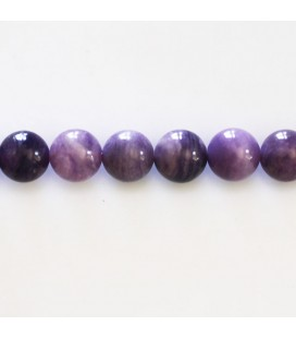 Fluorite purple 8 mm round bead Russia