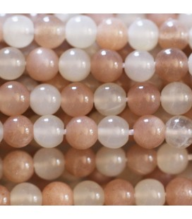 Multi stones 6 mm moonstone and sun stone