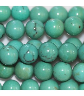 Turquoise 6 mm perle ronde