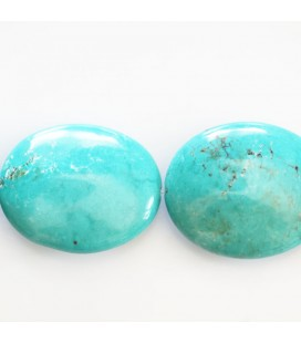 Howlite 25x30 ovale plat (nouvelle turquoise)