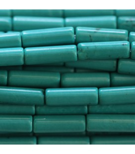Howlite 13x4 mm rounded tube (new turquoise)