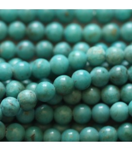 Turquoise 3 mm perle ronde chine traitée