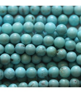 Turquoise 4 mm perle ronde chine