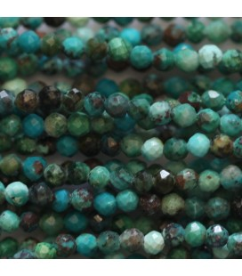 BeauMonde Jewelry - Chrysocolla 2 mm mixed faceted round bead