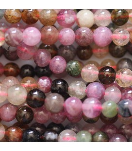 BeauMonde Jewelry - Tourmaline multi 4 mm round bead