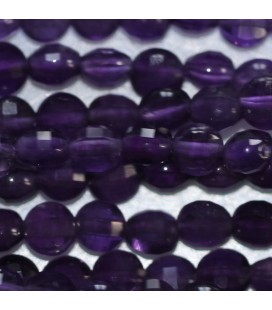 BeauMonde Jewelry - Amethyst 4 mm faceted medallion