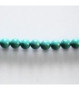 Turquoise 6 mm perle ronde stabilisée