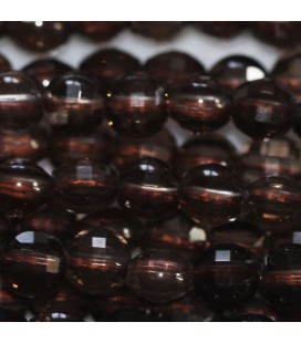 BeauMonde Jewelry - Smoky quartz 4 mm faceted medallion