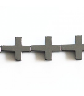 BeauMonde Jewelry - Hematite 14x18 mm cross