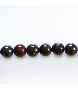 Red iron eye 8 mm round pearl