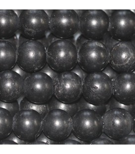 Tourmaline black 6 mm matte round bead