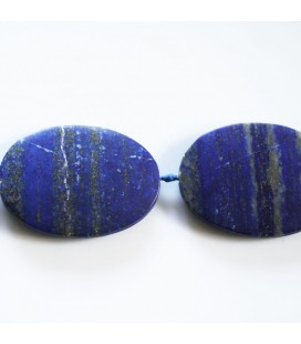 BeauMonde Jewelry - Lapis lazuli about 50x35 mm flat oval matte Afghanistan