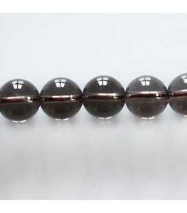 Smoky quartz 12 mm round bead