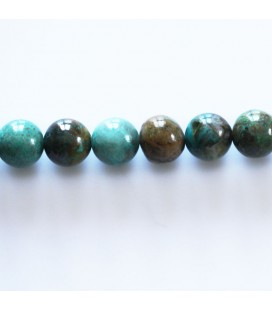 Chrysocolle 8 mm perle ronde ton medium
