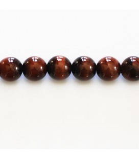 BeauMonde Jewelry - Bull eye 8 mm round bead A Africa