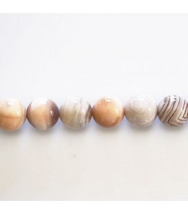 BeauMonde Jewelry - Agate 8 mm Botswana pink round bead