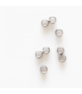 Crush beads 2.5 mm titanium color