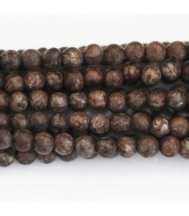 BeauMonde Jewelry - Obsidian 4 mm round bead brown snow