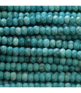 BeauMonde Jewelry - Howlite 3x4 mm faceted washer