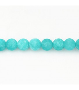 BeauMonde Jewelry - Jade tinted 8 mm round bead