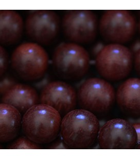 Wooden 10 mm round bead red sandalwood