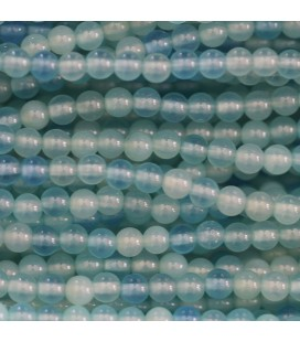 BeauMonde Jewelry - Agate blue 4 mm round bead