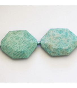 Amazonite 39x29 mm octogonal plat