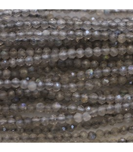 BeauMonde Jewelry - Labradorite 2 mm round faceted bead
